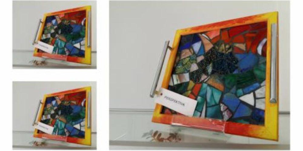 Lidija Leskovšek: Razstava dekorativnih pladnjev – mozaikov iz stekla