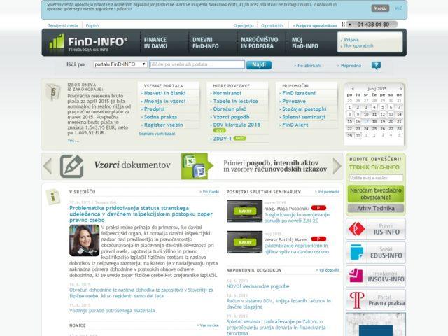 FinD-INFO, Finance in Davki