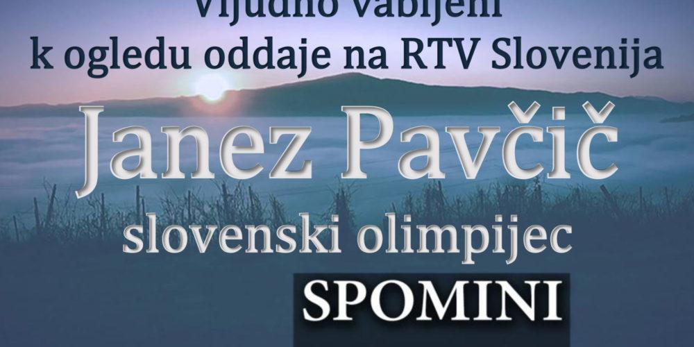 Spomini: Janez Pavčič – slovenski olimpijec – oddaja na RTV Slovenija