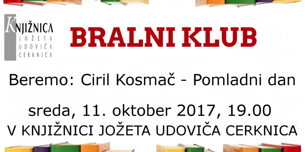 Bralni klub: Ciril Kosmač – Pomladni dan