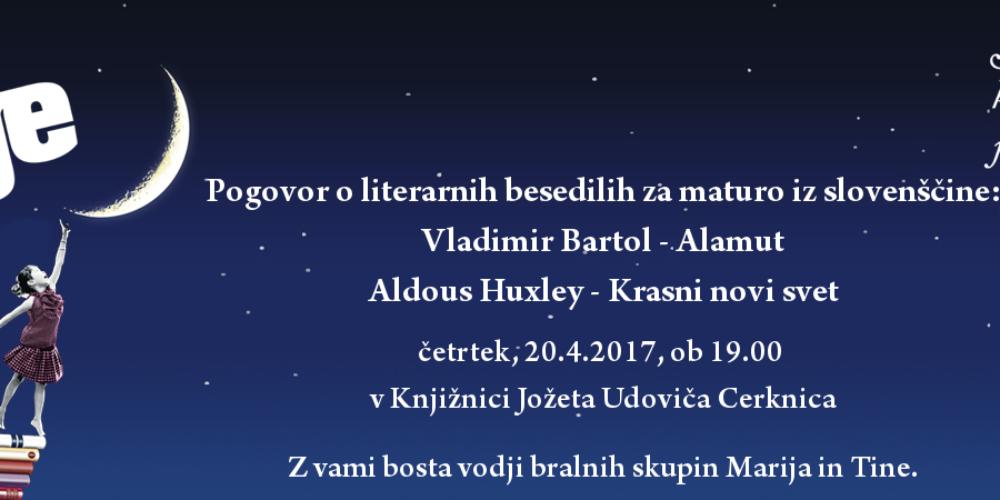 Pogovor o literarnih besedilih za maturo iz slovenščine