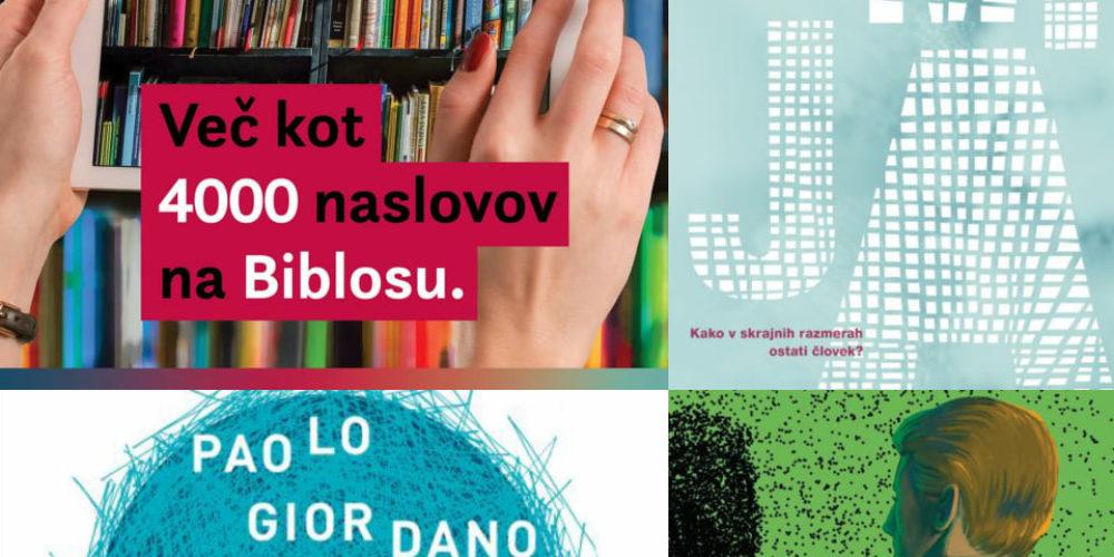 Branje tiskanih ali elektronskih knjig in aktualno na Biblosu