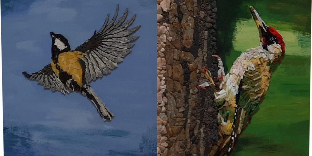 Ptice naših krajev – razstava sekcije Mozaik KD Rak Rakek