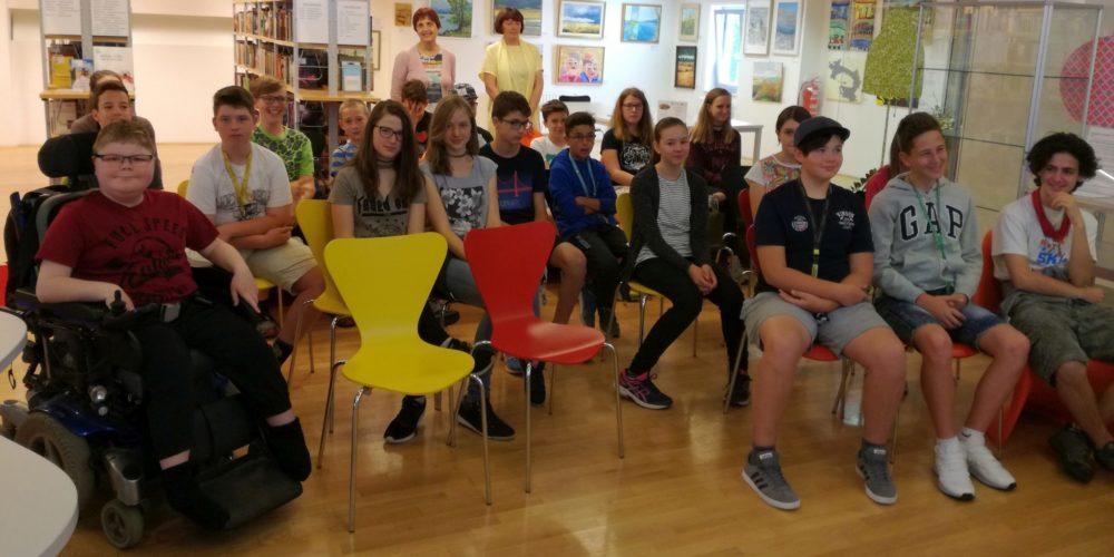 Še zadnji obisk sedmošolcev ob projektu Rastem s knjigo