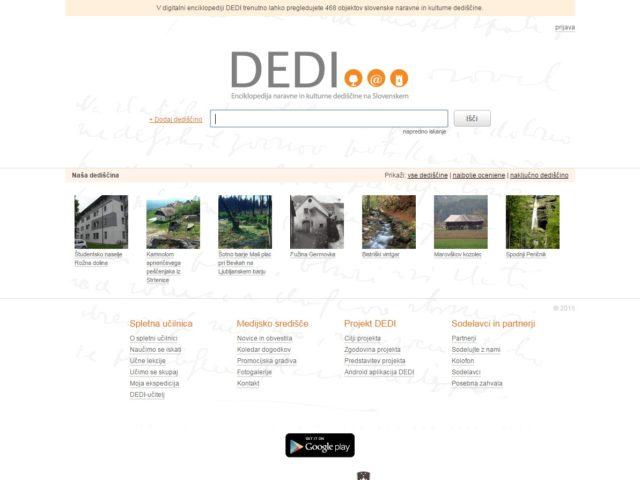 DEDI – digitalna enciklopedija naravne in kulturne dediščine