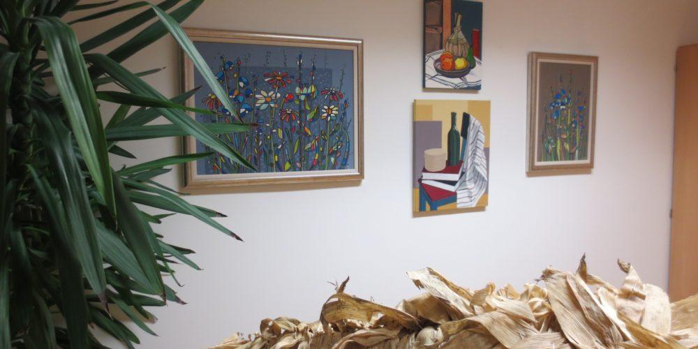 Otvoritev razstave likovnih del Jane Slavec na Blokah