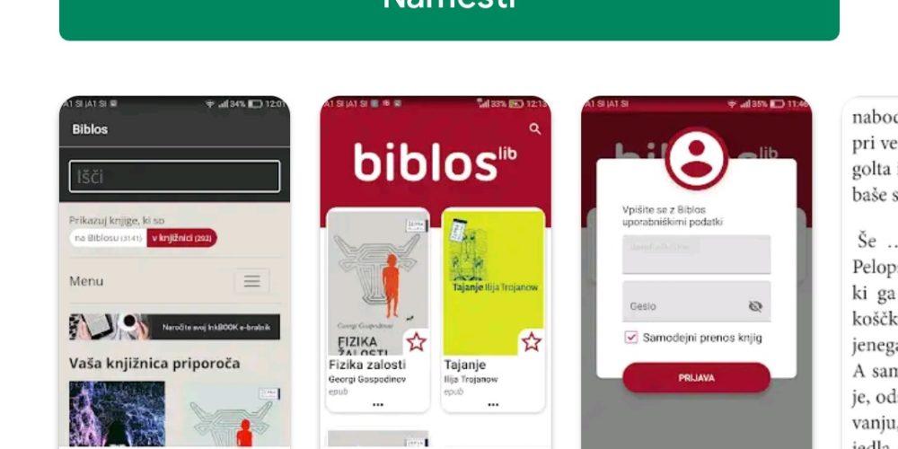 Posodobljena aplikacija Biblos 2 – Kratek vodič za izposojo e-knjig na mobilnih napravah Android