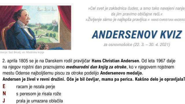 """""""Andersenov kviz"""" za osnovnošolce"""
