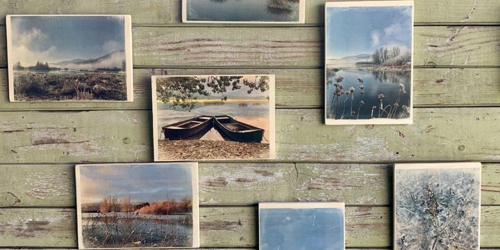 Erika Felicijan: Obrazi jezera – Cerkniško jezero v fotografijah na lesu